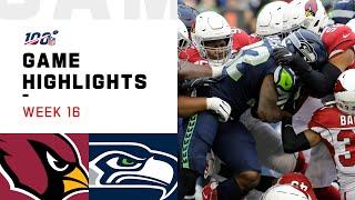 Cardinals vs. Seahawks Week 16 Highlights | NFL 2019