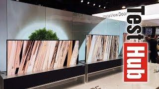 Rolowany, zwijany telewizor LG OLED TV R | OLED 8K | Domowy browar