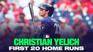 Christian Yelich's first 20 home runs of 2019