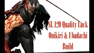 Dark Souls 3 - SL 120 Quality Luck/Hollow/Bleed Onikiri & Ubadachi - PvP Build Guide