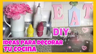 / IDEAS PARA DECORAR TU COCINA/ DIY BANDEJA DE ESPEJO/DIY DOLLAR TREE/cocina pequeña