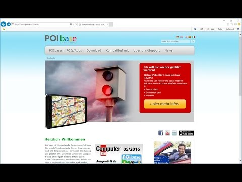 Pioneer KML Import mit POIbase
