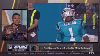 Tony Gonzalez On Cam Newton Celebrations!! + Teddy Bridgewater On Playing In The Future!!!