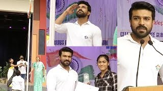 Ram Charan Independence Speech @ Chirec International Scho..
