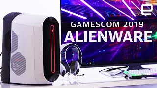 Dell Alienware's Aurora desktop and gaming monitors Hands-On