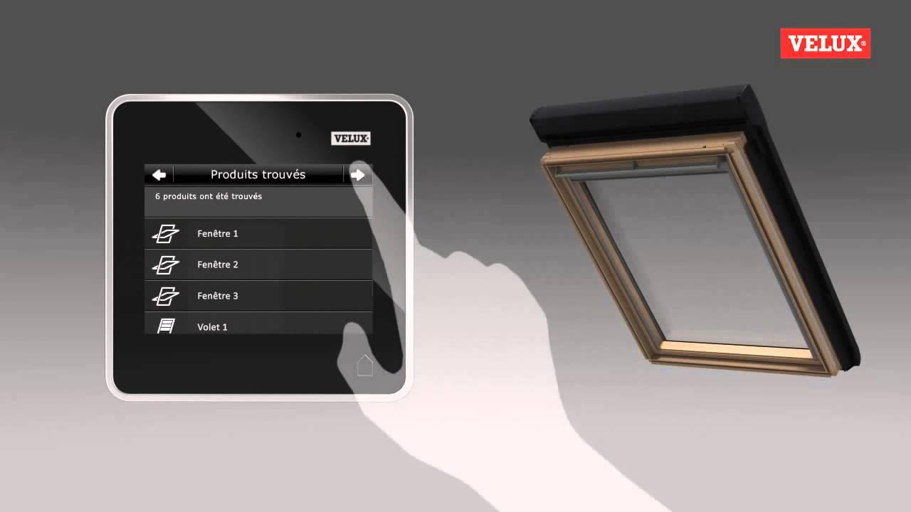 velux reportage sur la t l commande tactile youtube. Black Bedroom Furniture Sets. Home Design Ideas
