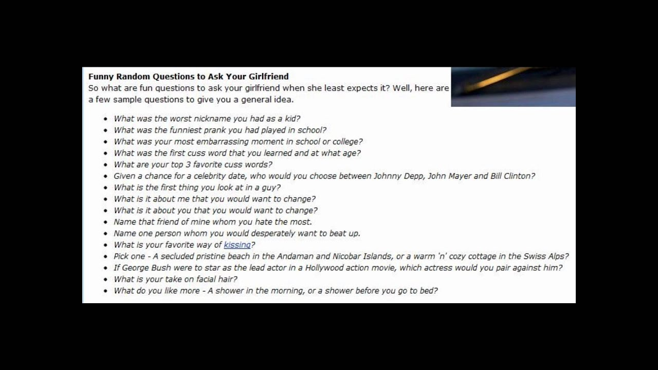 Best questions to ask a girl your dating