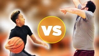 Kid Basketball Pro Vs. Adults - YouTube