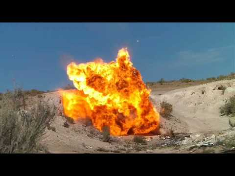 Quarter Stick of Dynamite and Gasoline Explosion!!! - YouTube