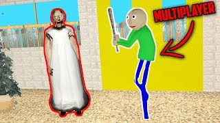 Baldi's Basics Multiplayer vs Granny Horror Game Online (Baldi's Basics vs Granny Horror Game)
