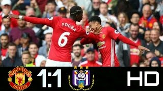 Manchester  Utd vs Anderlecht:1-1:All Goals and Highlights Europa League HD(14/4 /2017)