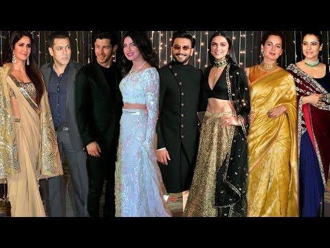 Salman Katrina, Ranveer Deepika, Shahid Mira, Kangana   Priyanka Nick Mumbai Reception Full Event