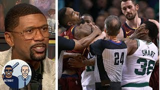Jalen goes behind the curtain on the JR Smith-Marcus Smart scuffle | Jalen & Jacoby