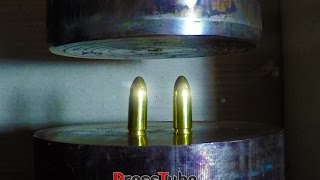 Hydraulic Press   Different Bullets   Fusing Together