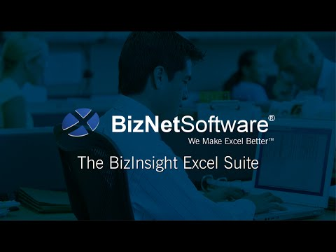 The BizNet Excel Analytics Suite