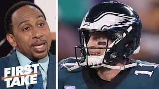 Stephen A.: Eagles win over 'pathetic' Giants gives 'no evidence' they are back | First Take