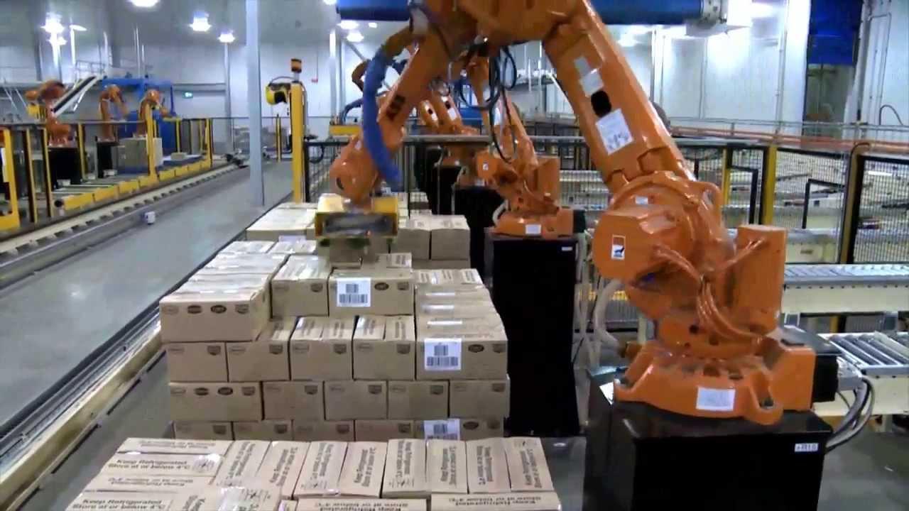 Abb Robotics Palletizing Cartons Youtube