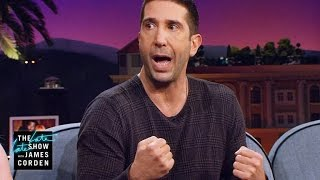 David Schwimmer Saw a Familiar Face at the Great Wall
