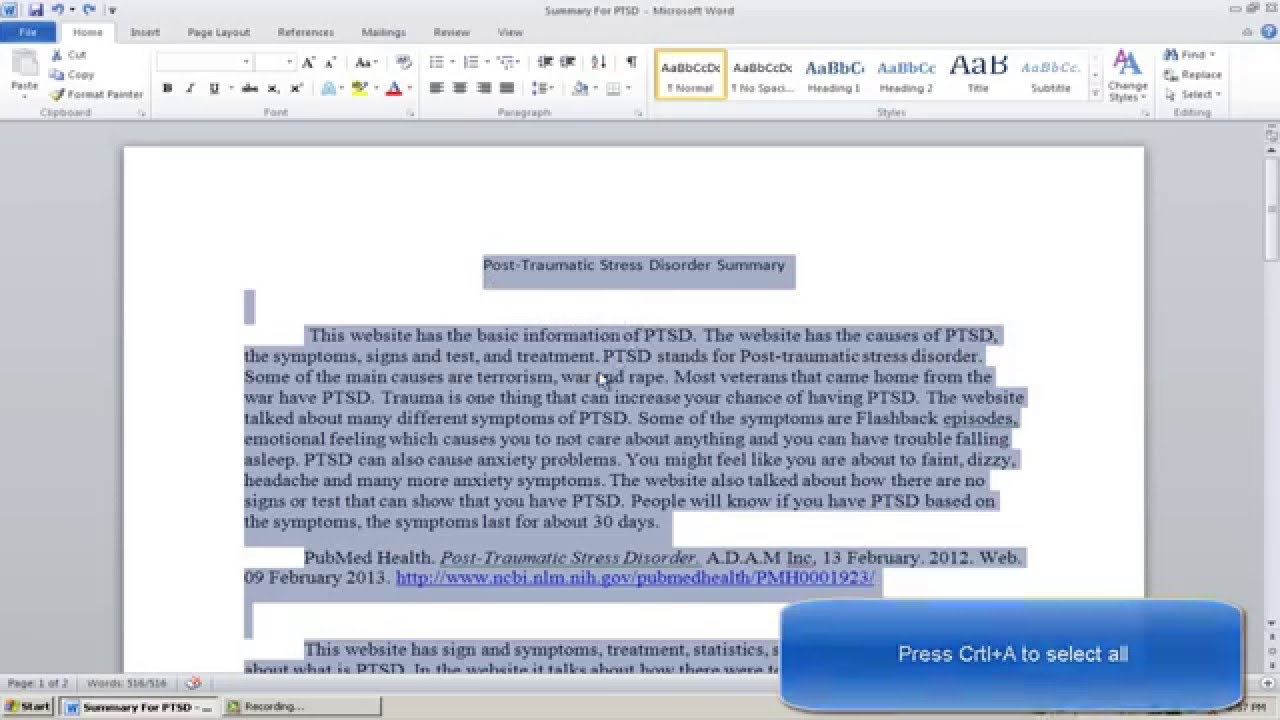 Double space essay