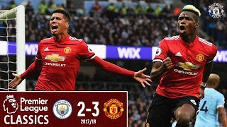 Premier League Classic | Manchester City 2-3 Manchester United | Pogba Double Sinks City