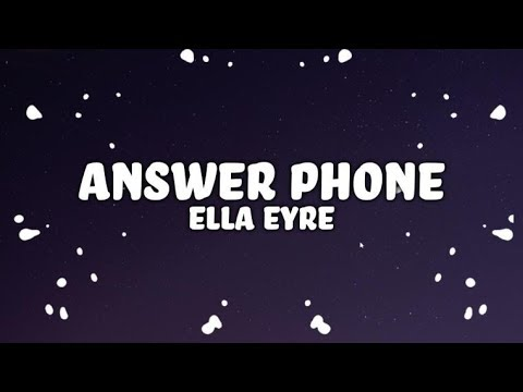 Ella Eyre, Banx & Ranx - Answerphone (Lyrics) ft. Yxng Bane