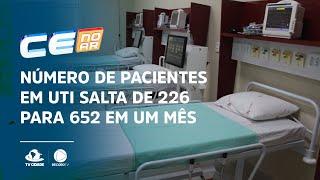Número de pacientes em UTI salta de 226 para 652 em um mês