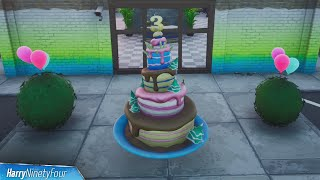 All Birthday Cake Locations - Fortnite (3rd Birthday Challenges 2020)