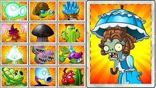 PARASOL ZOMBIE in Plants vs Zombies 2 Every Plant Power-Up!