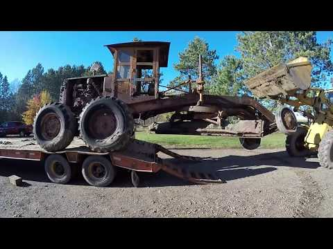 Caterpillar Auto Patrol Graders - No.9 and No.11 Both Hauled in One Day