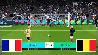 FRANCE vs BELGIUM   Penalty Shootout   PES 2018 Gameplay PC