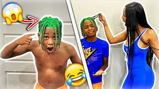 I Dyed My Son's Hair Green To See My Families Reaction!
