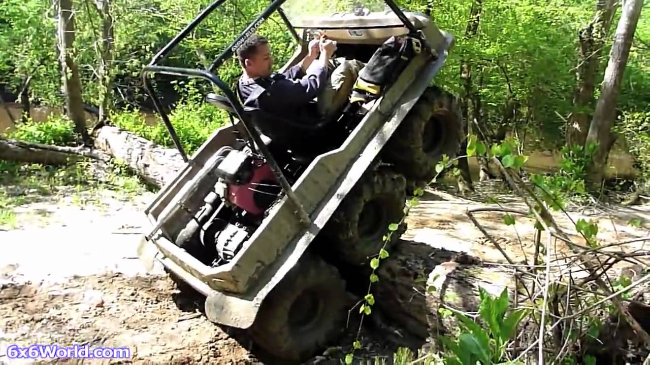 Amphibious Vehicle For Sale >> Amphibious 6x6 ATVs in Mud at Busco Beach - YouTube