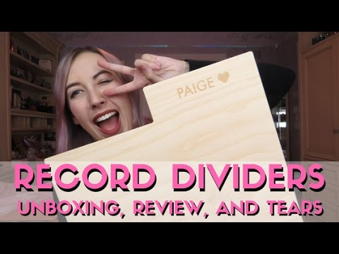Record Dividers Unboxing & Review | PaigeBackstage