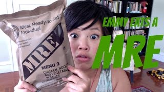 Emmy Eats an MRE - tasting a Meal, Ready to Eat