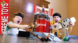 WWE Wrekkin Entrance Stage Mayhem! Ethan and Cole Wrestling Entrance
