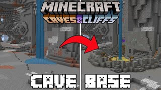 Minecraft 1.17 - Cave Base Transformation! (Caves and Cliffs Update | New Cave Generation)