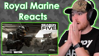 Royal Marine Reacts To Shadow Company Trailer Season 5 Warzone Call Of Duty!!!