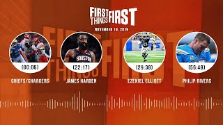 Chiefs/Chargers, James Harden, Zeke, Philip Rivers | FIRST THINGS FIRST Audio Podcast