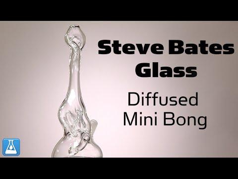 Steve Bates Glass Diffused Mini Bong