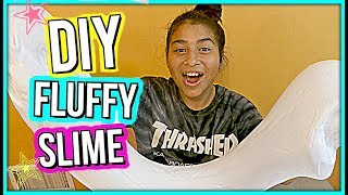 How To Make Giant  Fluffy Slime ‼️2 GALLONS OF GLUE