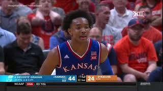 Kansas vs Syracuse Men's Basketball Highlights