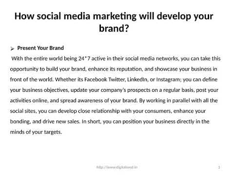 How social media marketing will develop your brand? – Digitalseed | Digital Marketing Company in pune