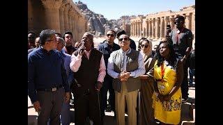 شاهد الرئيس السيسي يزور معبد فيلة في اسوان بصحبةمجمو ...