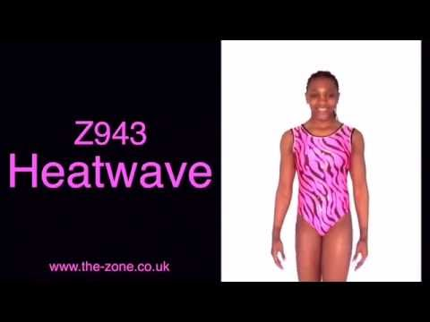 Heatwave Print Gymnastics Leotard