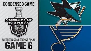 05/21/19 WCF, Gm6: Sharks @ Blues