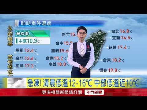 12/03冷氣團今晨最冷!12至16度 明起「防大雨」