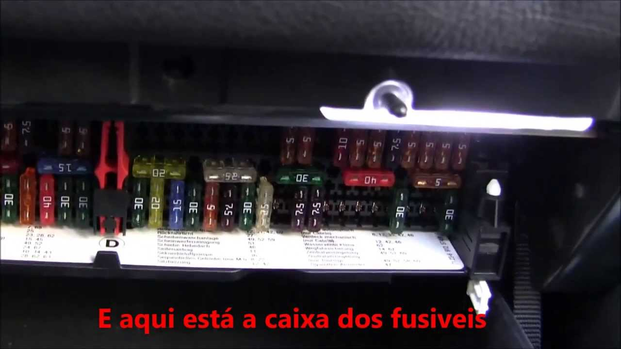 caixa dos fusiveis bmw e46 fuse box bmw e46 youtube. Black Bedroom Furniture Sets. Home Design Ideas