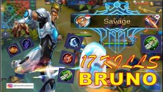 Bruno SAVAGE!! PERTAMA KALI NYOBA BRUNO, GGWP SANGAR PARAH - Mobile Legends