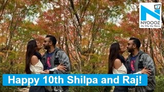 Shilpa Shetty and Raj Kundra celebrate 10th anniversary in..