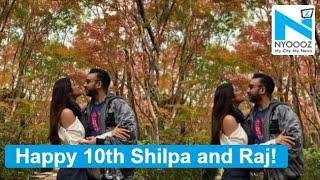 Shilpa Shetty and Raj Kundra celebrate 10th anniversary in..